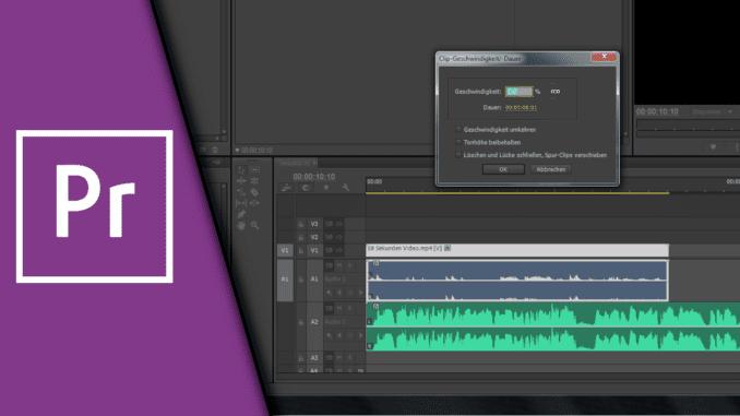 Adobe Premiere Zeitlupe