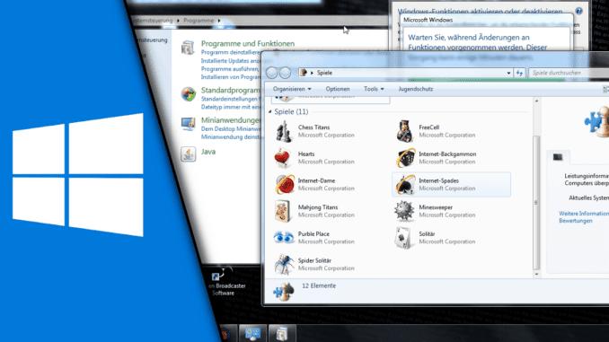 Windows 7 Spiele desintallieren