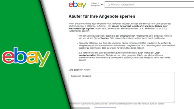 Ebay Käufer Sperren