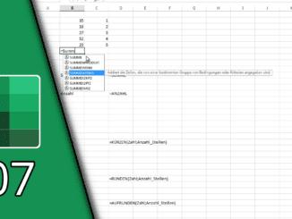 Excel Summenfunktion
