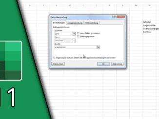 Excel Datenüberprüfung