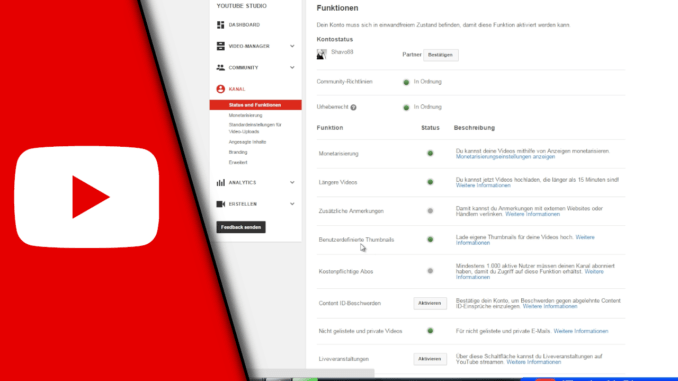Youtube Partner werden