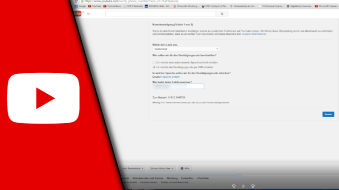 Youtube Video über 15 Minuten