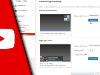 Youtube Wasserzeichen