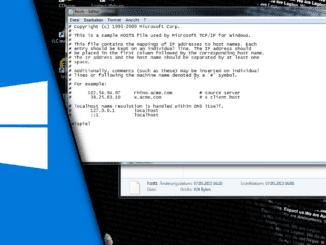 Windows Hosts Datei