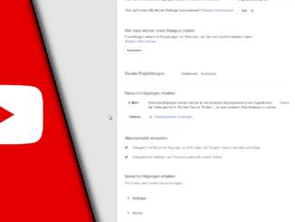 Youtube E-Mail Benachrichtigung ausschalten