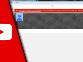 Youtube Kanal gesperrt