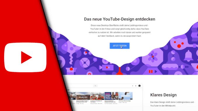 Youtube Neues Design