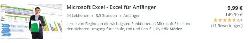 Excel Preisbanner