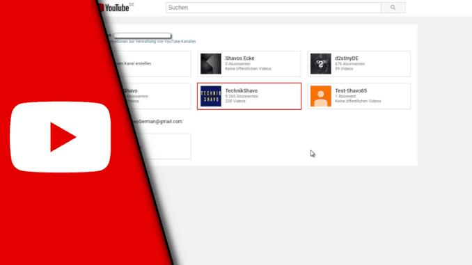 Youtube Kanal erstellen