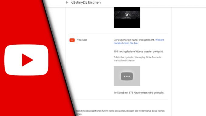 Youtube Kanal löschen