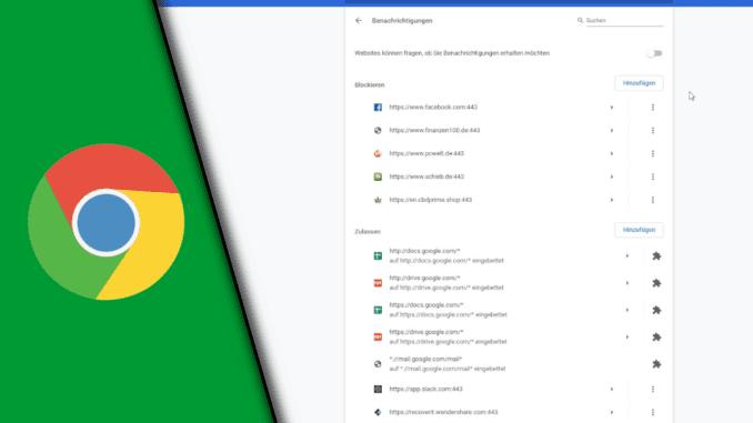 Chrome Benachrichtigung ausschalten
