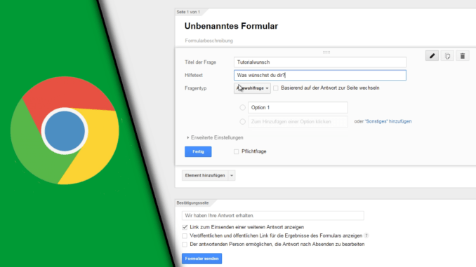 Google Formular erstellen