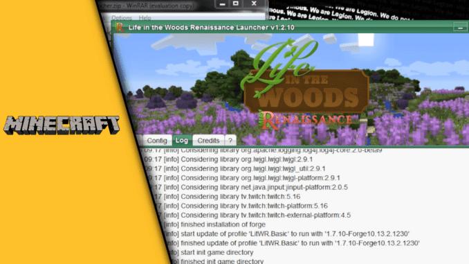 Minecraft Life in the Woods installieren