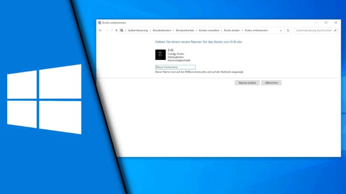 Windows 10 Benutzername ändern 2