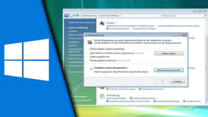 Defragmentieren Windows 7