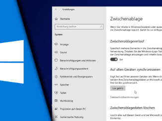 Windows 10 Zwischenablage