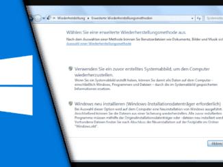 Windows 7 zurücksetzen