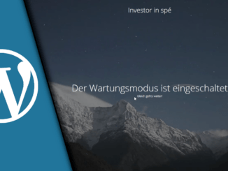 Wordpress Wartungsmodus