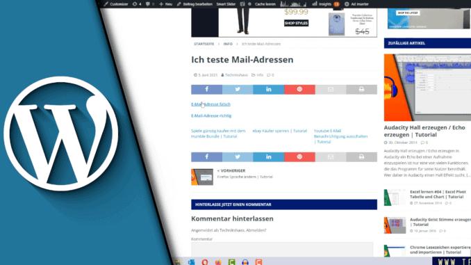 Wordpress Email Link
